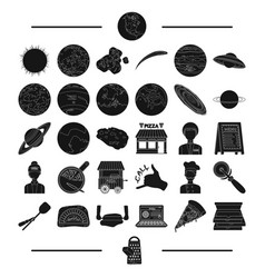 cafe nature ecology and other web icon in black vector image