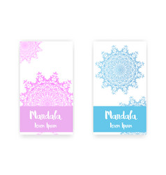 card with mandala decorative elements background vector image vector image