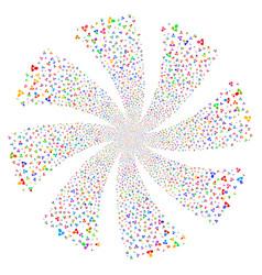 Client fireworks swirl flower vector