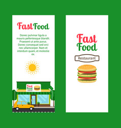 Fast food restaurant vertical flyers vector