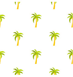 Green palm tree pattern seamless vector