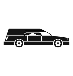 Hearse icon simple style vector