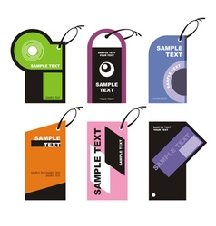 Label Tags vector image vector image