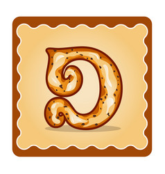 Letter d candies vector