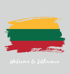 lithuania watercolor national country flag icon vector image