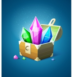 Magic chest with precious vector image vector image