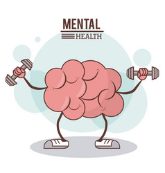 mental health concept brain training exercise vector image