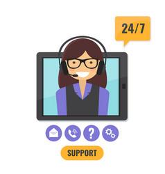 Online tech support 24 7 service concept vector