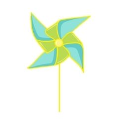 Pinwheel toy vector image