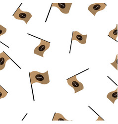 Seamless pattern with coffee flag vector