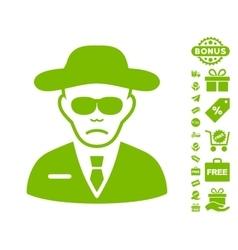 Security agent icon with free bonus vector
