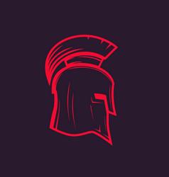 spartan helmet outline vector image
