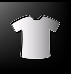 T-shirt sign gray 3d printed icon on vector