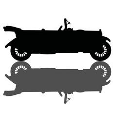 Vintage black cabriolet vector image vector image