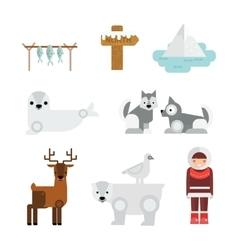 Wild north arctic people vector