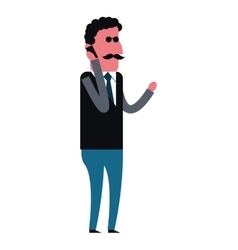 Man using cellphone icon vector