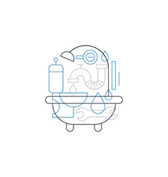 Plumbing concept backdrop vector