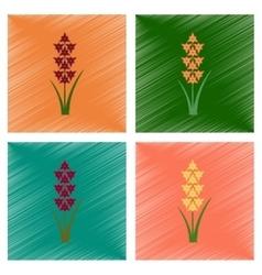 assembly flat shading style gladiolus vector image