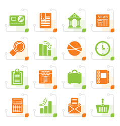 Stylized business and office realistic internet vector