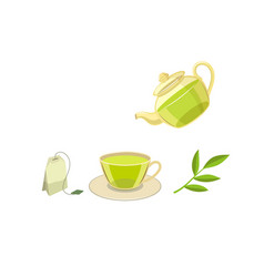 Tea ceremony flat concept flat isolated vector