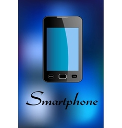 Glossy smartphone vector