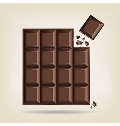 Unwrapped bar of chocolate vector