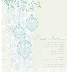 elegant christmas background with baubles vector image