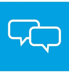 Dialog white icon vector