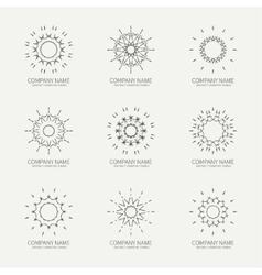 Simple monochrome geometric abstract symmetric vector