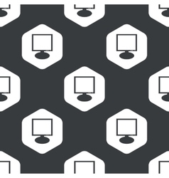 Black hexagon monitor pattern vector