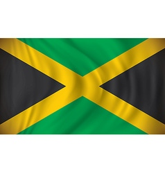 Flag of jamaica vector