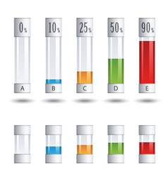 Glass tubes percent infographic vector