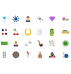 Game of chance icons set vector