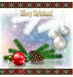 abstract celebration greeting with christmas vector image vector image