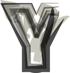 Abstract letter y vector