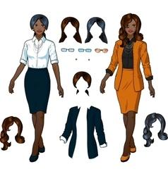African Businesswoman in elegant formal wear vector image