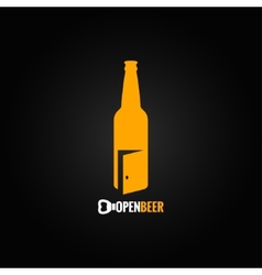beer bottle open concept background vector image vector image