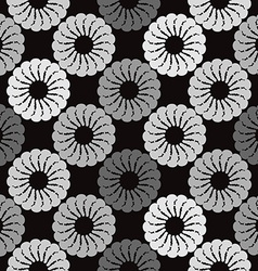 Black and grey background white round abstract vector image vector image