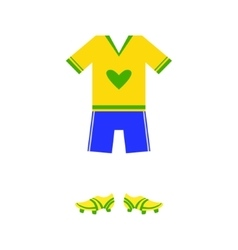 Brazilian soccer player uniform vector