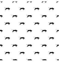 bull pattern vector image vector image