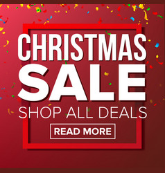 christmas sale banner business advertising vector image