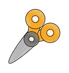 cute scissor cartoon vector image vector image