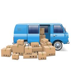 Delivery minivan vector