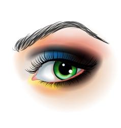 Eye makeup vector