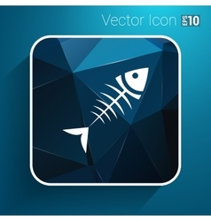 fish menu design template logo icon vector image