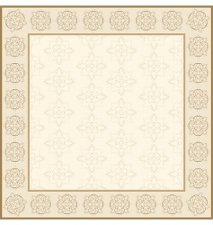 floral abstract frame vector image vector image