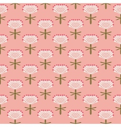 Floral pattern for fall fashion vector