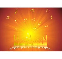 Gold Music Background vector image vector image