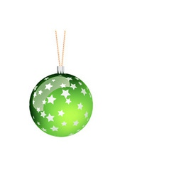 green christmas ball vector image vector image