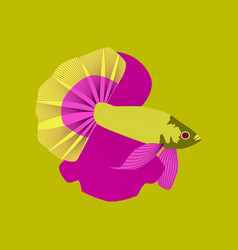 In flat style rooster fish vector